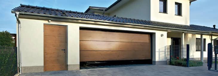 Garagen-Nebentür Holzoptik